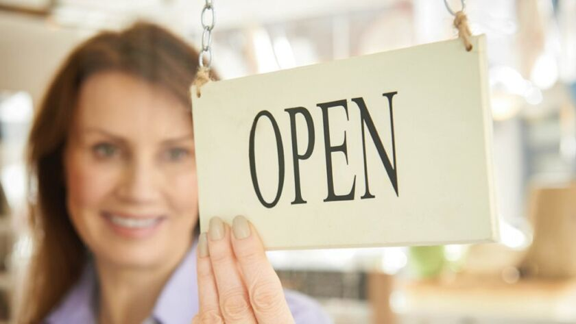 small business opens
