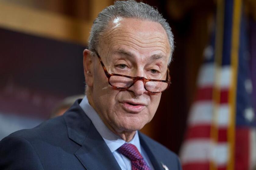 El líder de la minoría en el Senado de los Estados Unidos del Partido Demócrata, Chuck Schumer. EFE/Archivo