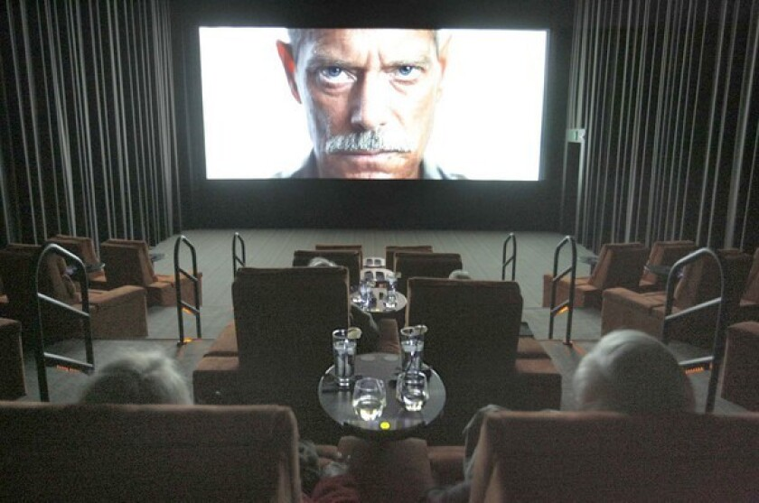 Patrons relax during a screening at an iPic (formerly Gold Class Cinemas) theater in Pasadena.