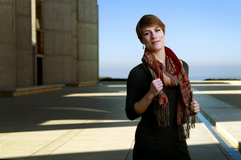 Soprano and flutist Alice Teyssier, photographed at the Salk Institute for Biological Studies.