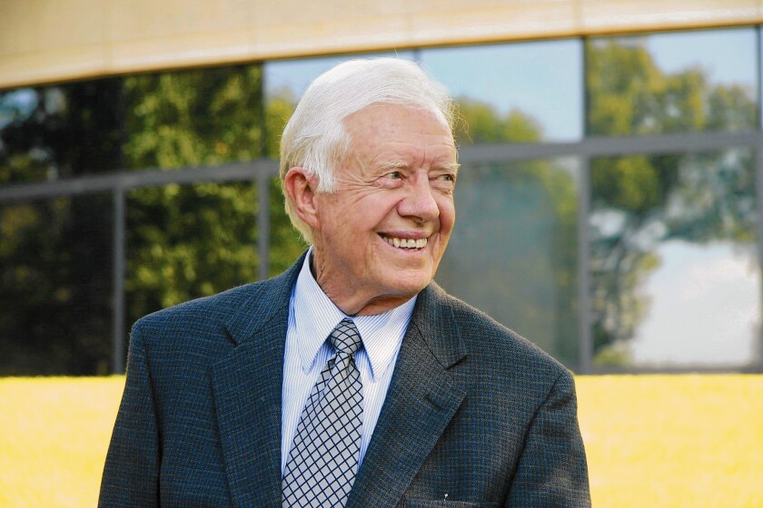 Author and former President Jimmy Carter