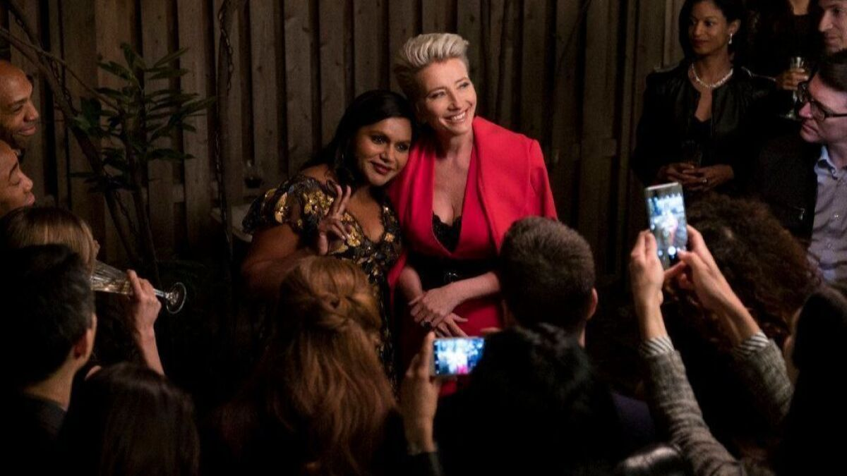 Review Mindy Kaling And Emma Thompson Make Late Night A Great Night Los Angeles Times