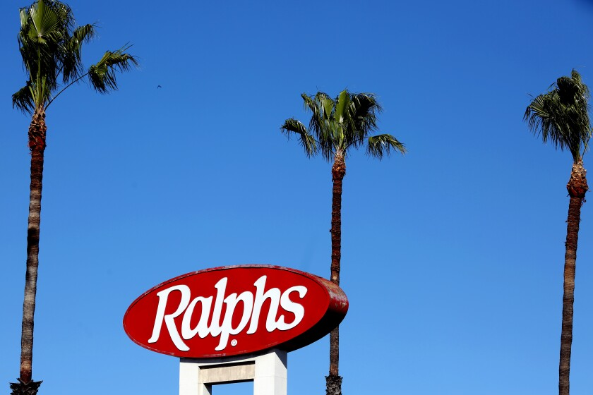 Signage for a Ralphs