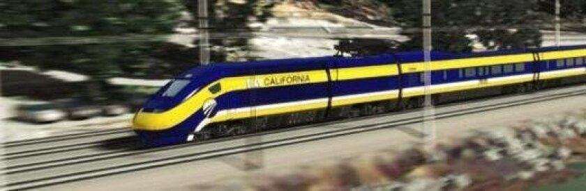 Graphic rendering of the California High-Speed rail system.