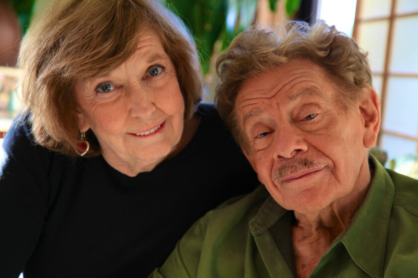 Anne Meara and Jerry Stiller pose for a photo taken by their son, actor Ben Stiller.