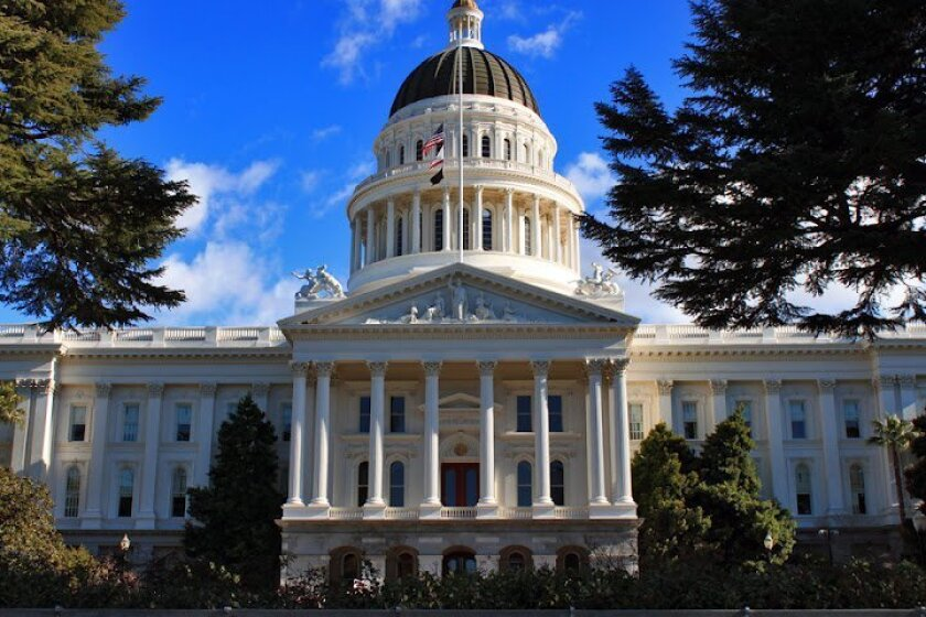 Iconic index image of state capitol building in Sacramento, the capital of California.