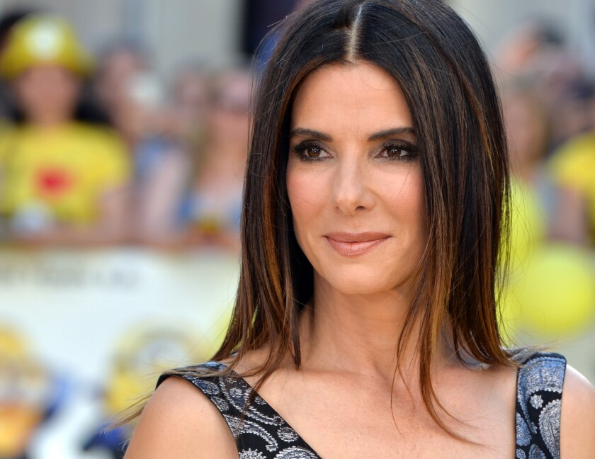 """Sandra Bullock attends the world premiere of """"Minions"""" at Odeon Leicester Square on Thursday in London."""