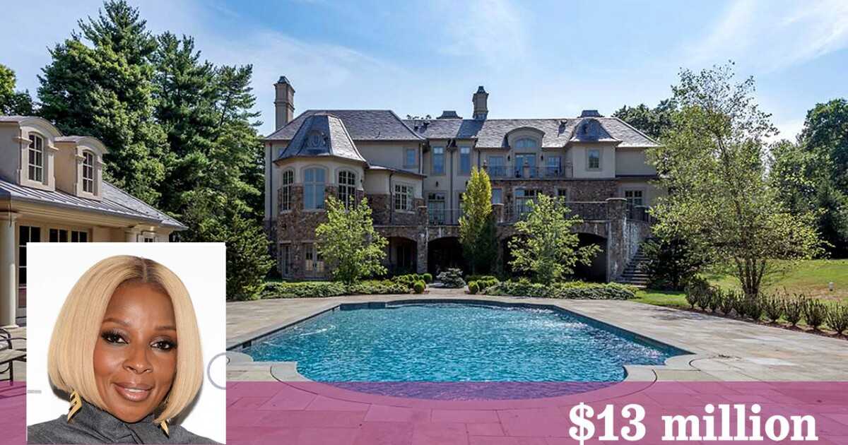 Mary J Blige Lists Her New Jersey Mansion With Indoor Basketball Court Los Angeles Times