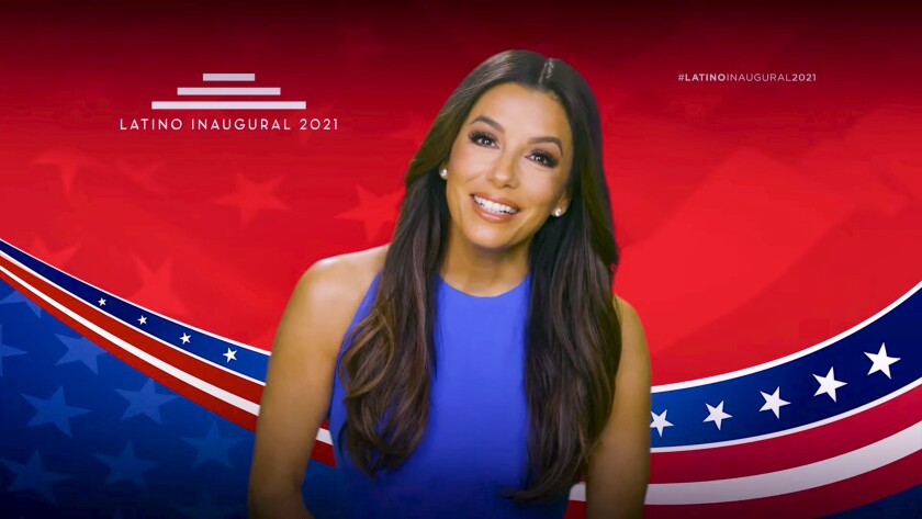 Eva Longoria speaks during the Latino Inaugural 2021: Inheritance, Resilience and Promise event