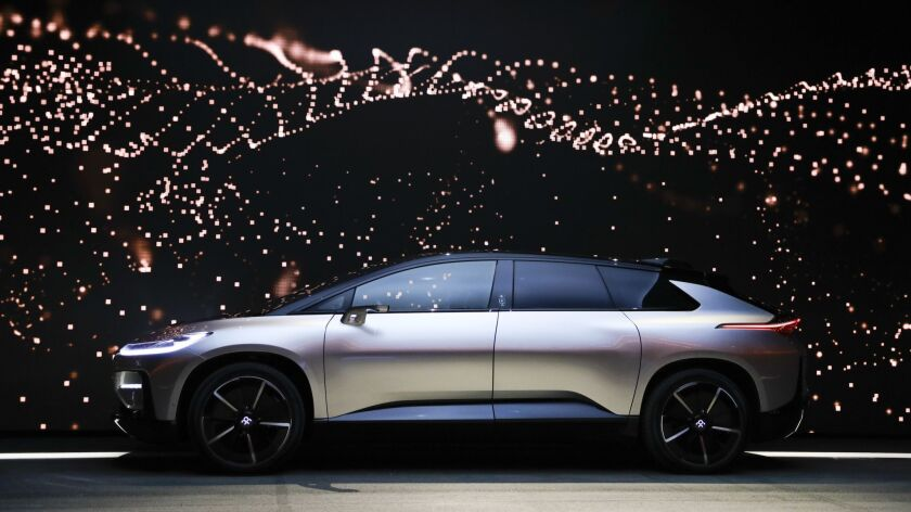 Faraday Future had planned to begin selling its $180,000 FF91 luxury sedan next year, but investment funding has soured for the Gardena company.