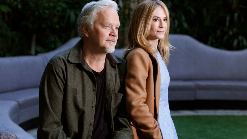 "Oscar winners Tim Robbins and Holly Hunter star in HBO's new series, ""Here and Now, """