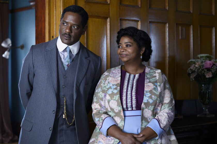 "Blair Underwood, left, and Octavia Spencer in ""Self Made: Inspired by the Life of Madam C.J. Walker."""