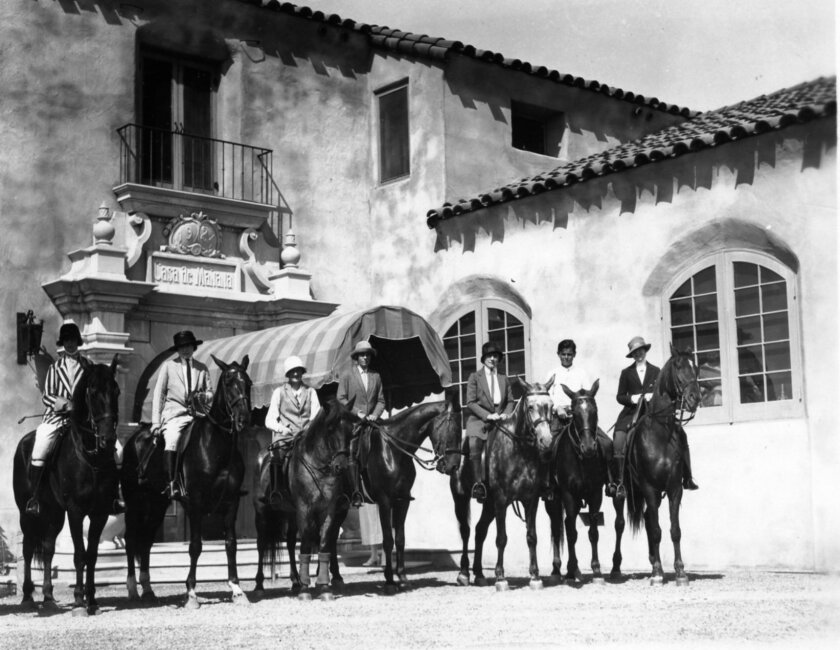 When Casa de Mañana opened in 1924, horses were the preferred mode of transportation. La Jolla Historical Society.