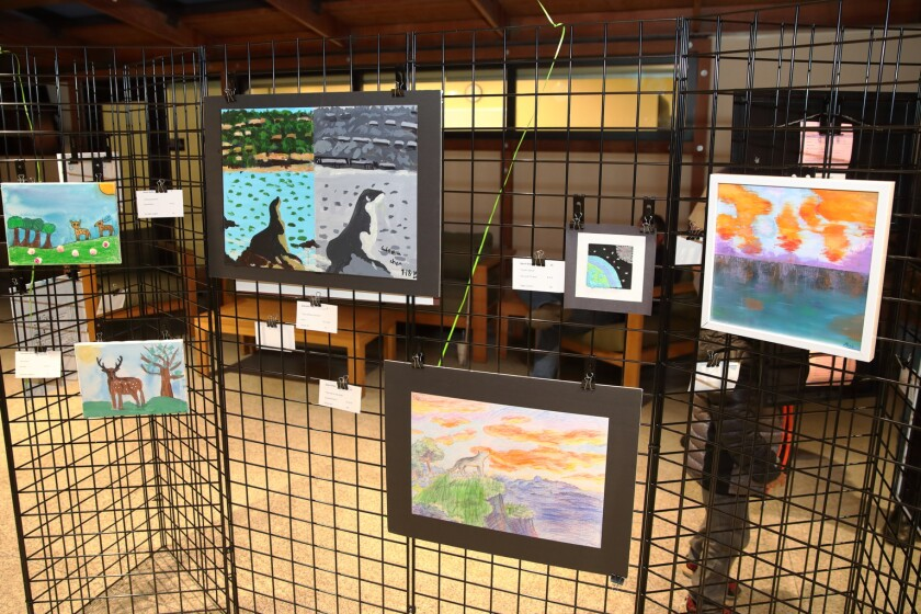 SD County student art work on display at the Del Mar Town Hall