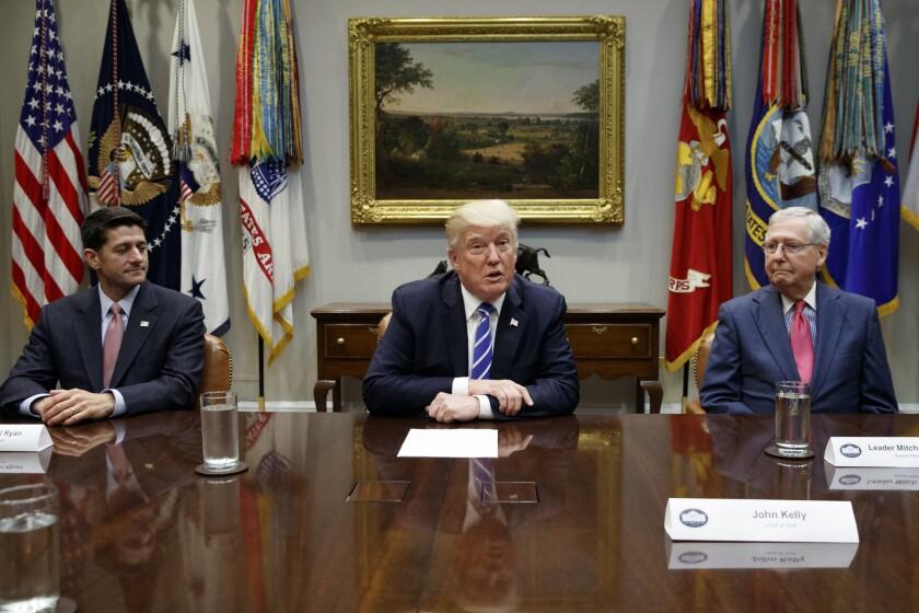 Donald Trump, Paul Ryan, Mitch McConnell