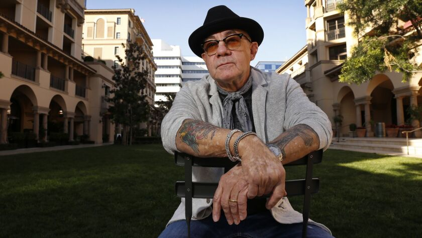 BEVERLY HILLS, CA – MARCH 28, 2018: Music lyricist Bernie Taupin, who has worked with Elton John f