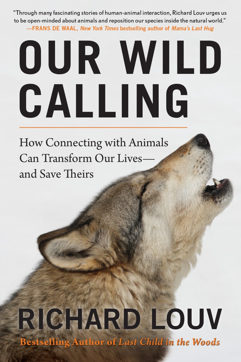 "This cover image released by Algonquin Books shows ""Our Wild Calling: How Connecting with Animals Can Transform Our Lives―and Save Theirs,"" by Richard Louv. (Algonquin Books via AP)"
