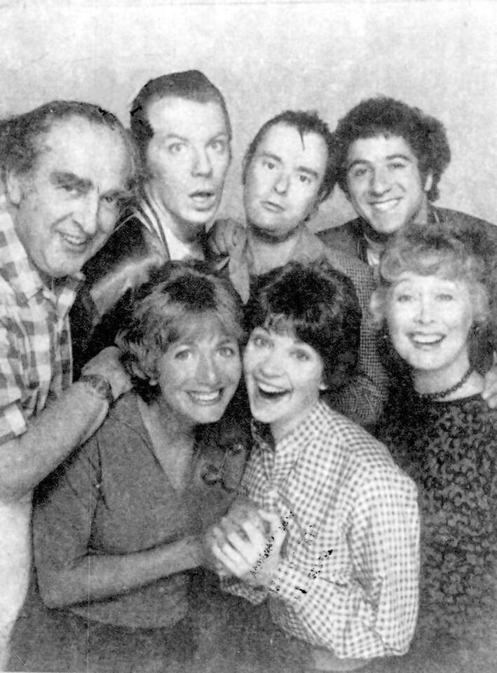 "Michael McKean, second from top left, with the cast of ""Laverne & Shirley."" The actor played the lovable goof who lived with best bud Squiggy on the ABC sitcom ""Laverne & Shirley."""