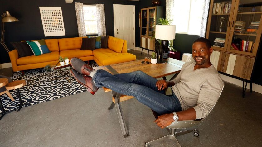 LOS ANGELES, CA, AUGUST 22, 2017 -- Emmy-Award winning actor Sterling K. Brown spends time in his f