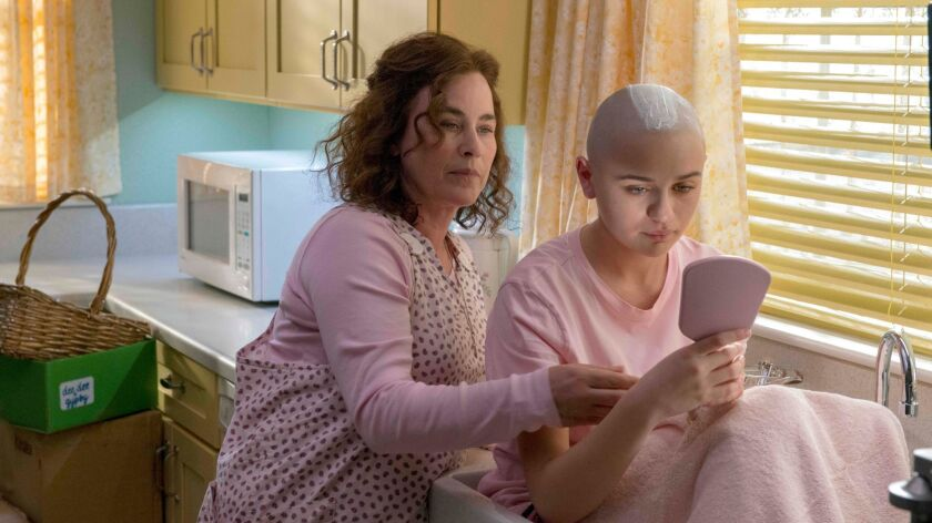 "Patricia Arquette, left, as Dee Dee Blanchard in ""The Act."""
