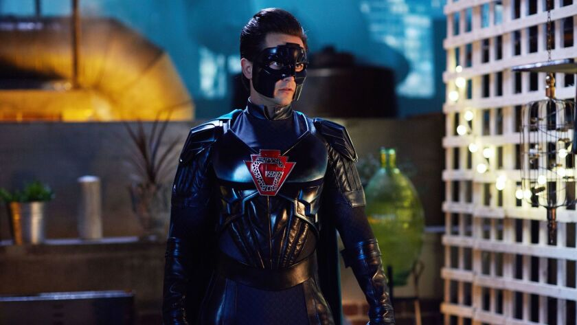 "Justin Chatwin is a caped crusader in ""The Return of Doctor. Mysterioso,"" a new episode of ""Doctor Who"" airing Christmas Day on BBC America."