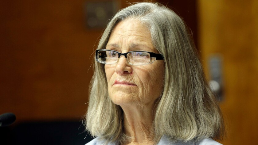 A judge on Thursday dealt a blow to Leslie Van Houten's efforts to be paroled. The former Manson follower is shown here at an April hearing.
