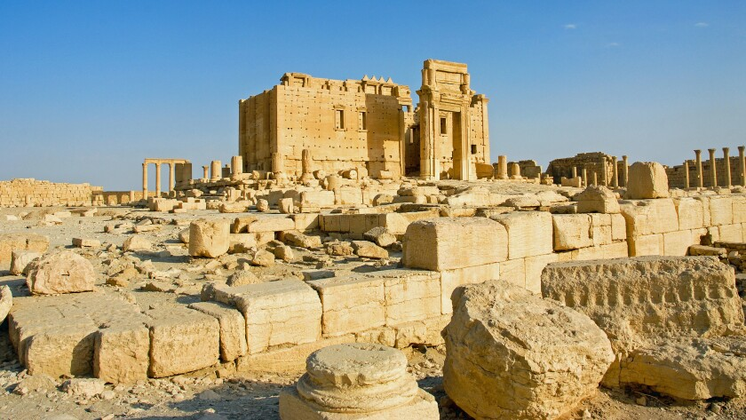 The Temple of Bel in 2008, before Islamic State destruction.