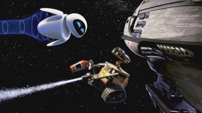 """A DIRTY JOB: A robot is programmed to clean up Earth after humans leave it trashed in """"WALL-E."""""""