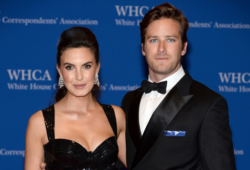 Elizabeth Chambers and Armie Hammer in 2017