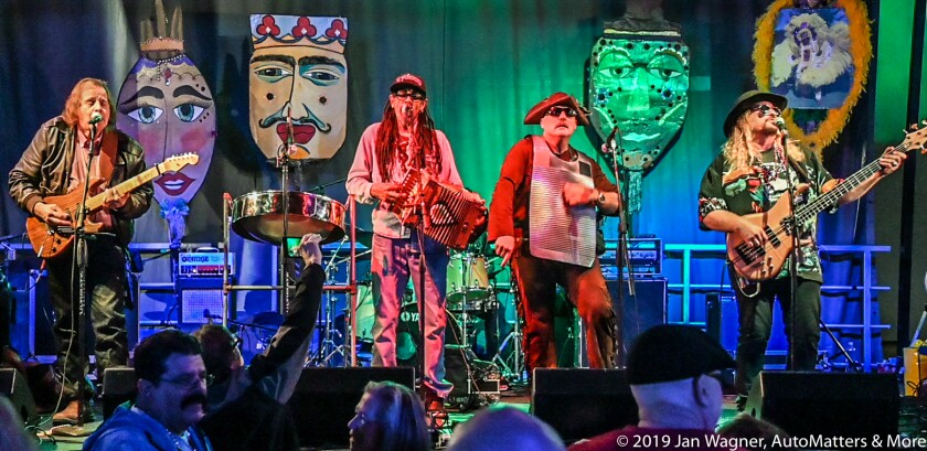 """Theo and Zydeco Patrol"" playing Mardi Gras music"
