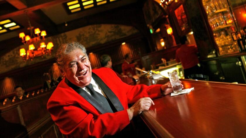 Longtime Musso & Frank barman Ruben Rueda.
