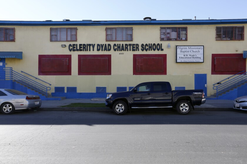 California's State Board of Education declined to renew the charter petition for the Celerity Dyad Charter School in South Los Angeles.