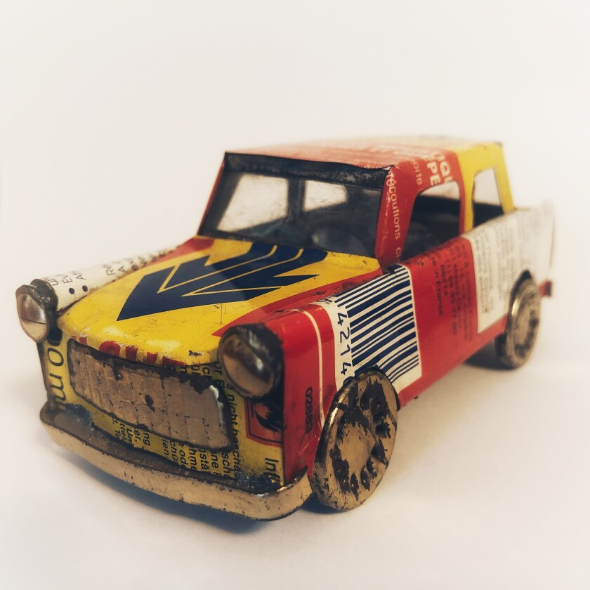 Toy Trabant, 5 inches long, Berlin, circa 1995.
