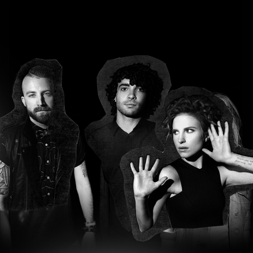 Paramore,from left: Jeremy Davis, Taylor York, Hayley Williams.