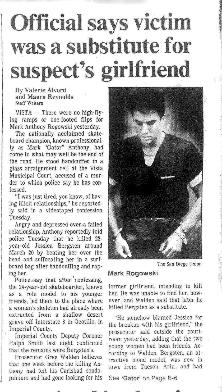 """Mark """"Gator"""" Anthony Rogowski murder trial"""