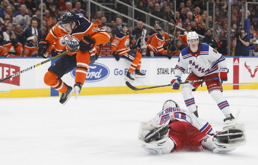 Rangers Oilers Hockey