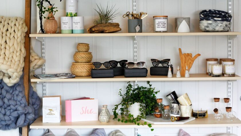 The eclectic merchandise at The Salt Collection is hand-picked by owner Sophie Machado from all over