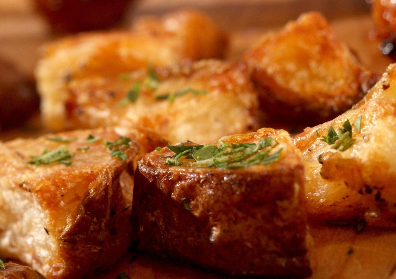 Super-crisp roasted potatoes. Get the recipe.