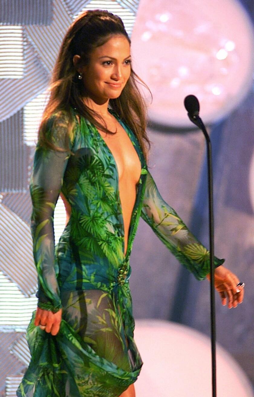 Jennifer Lopez at the 42nd Grammy Awards