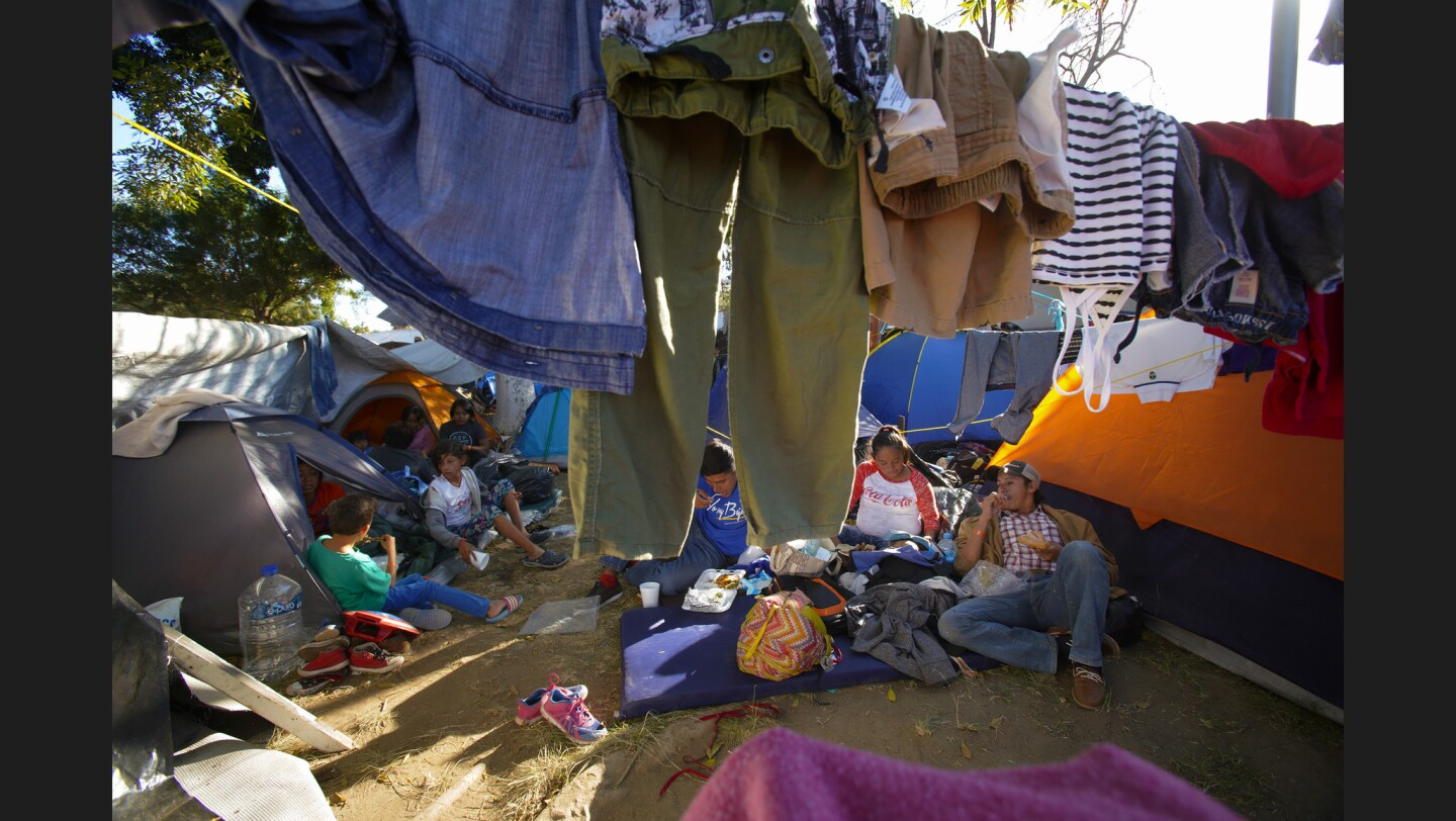 Life for Central American migrants in Tijuana
