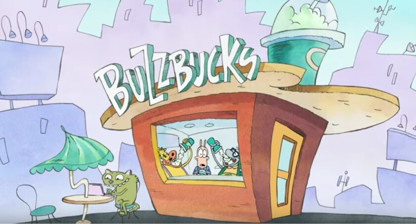 """A scene from """"Rocko's Modern Life: Static Cling."""""""