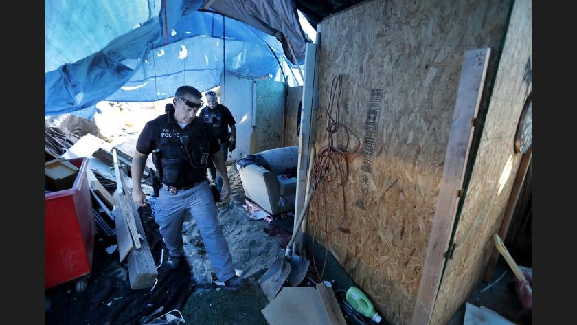 Homeless crackdown