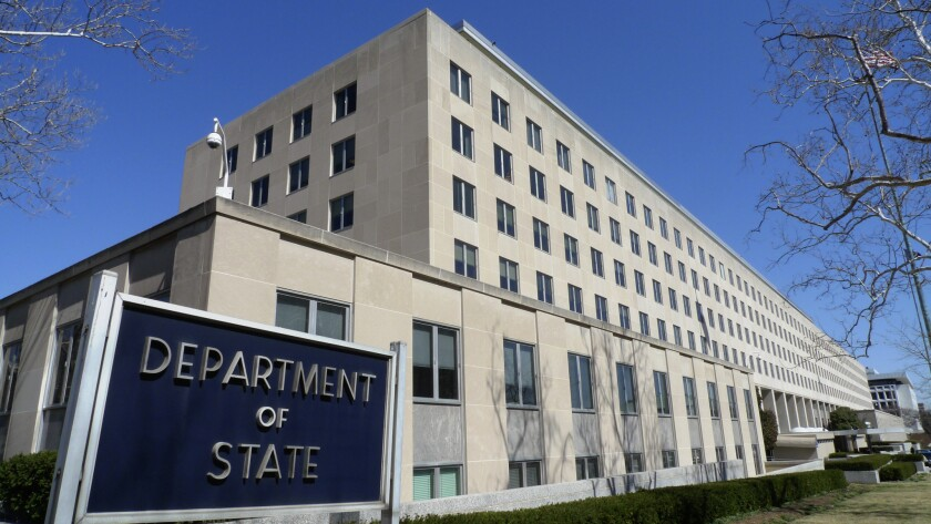 The Harry S. Truman Building, headquarters of the State Department, in Washington, D.C.