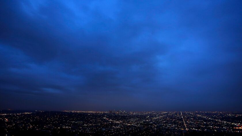 LOS ANGELES, CA - DECEMBER 21, 2015: A view of Los Angeles from the Griffith Observatory, on the sh