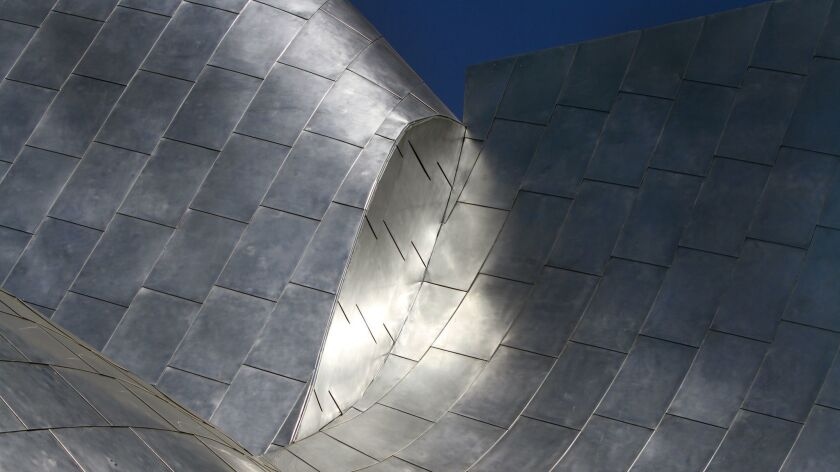 The undulating forms of Frank Gehry's Disney Hall.