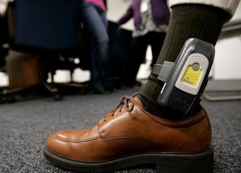 GPS ankle bracelets allow authorities to keep tabs on parolees.