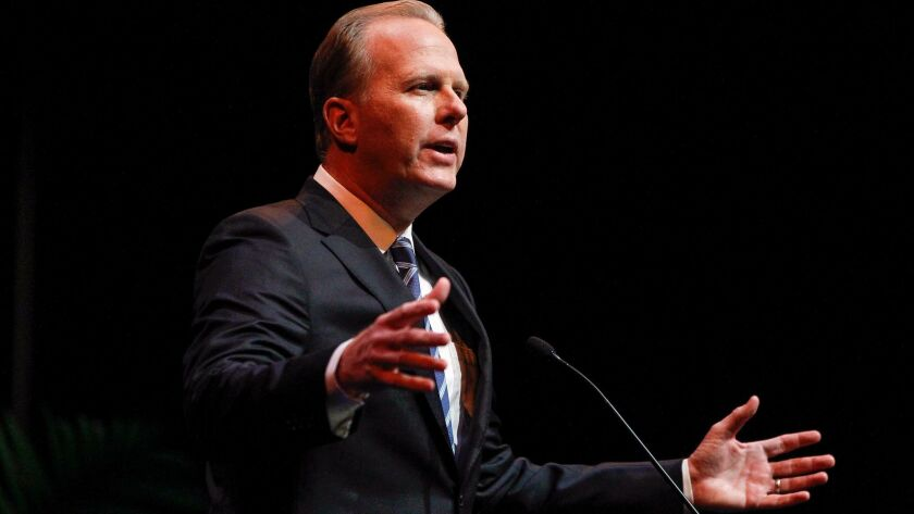 SAN DIEGO, January 11, 2018 | San Diego Mayor Kevin Faulconer makes his State of the City speech at