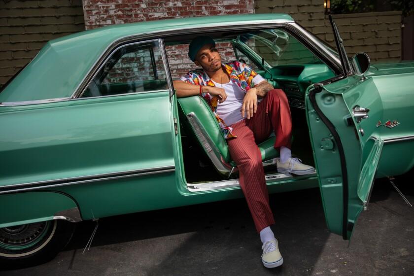 LOS ANGELES, CA --APRIL 03, 2019 --Anderson .Paak, the R&B singer-rapper-drummer-producer that broke