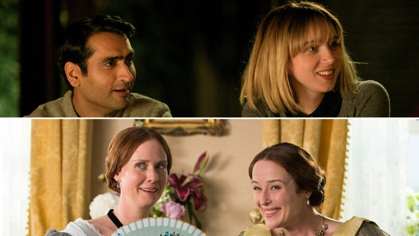 """The Big Sick"" -- with Kumail Nanjiani as Kumail and Zoe Kazan as Emily -- and ""A Quiet Passion"" --"