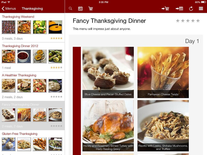 Organizing your recipes online? Of course, there's an app